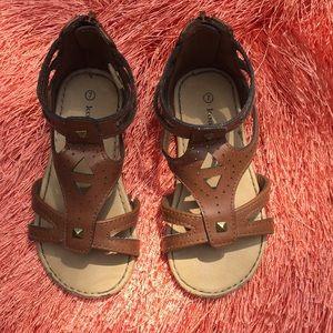 Koala Kids brown tan gladiator sandals size 8